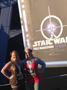 Kathryn & I as Ewoks and 10k finishers!